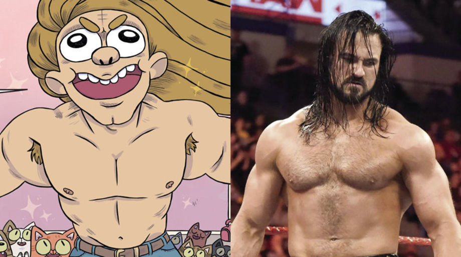 Drew McIntyre as the Muscular Cat Guy