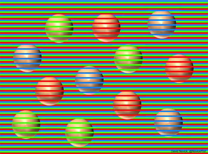 Another brain-frying optical illusion: What color are these spheres?