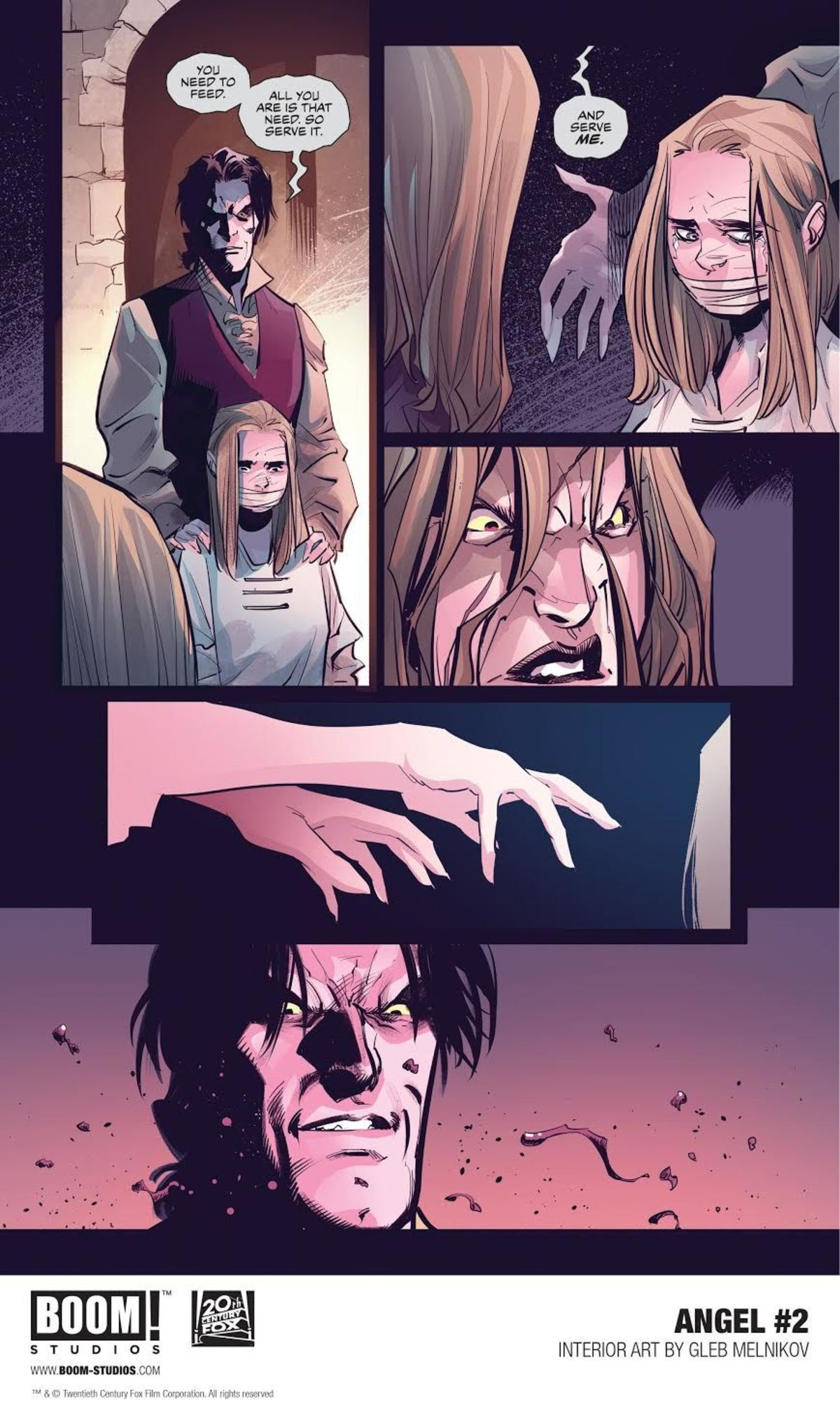 Learn the origins of Angelus in the second issue of Boom!'s