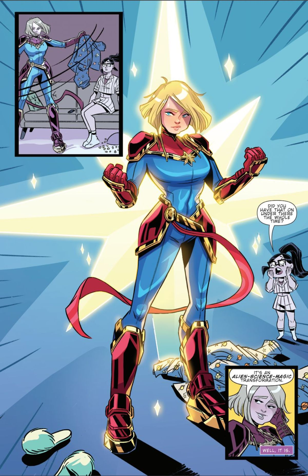 idw's marvel action: captain marvel #1 exclusive comic preview