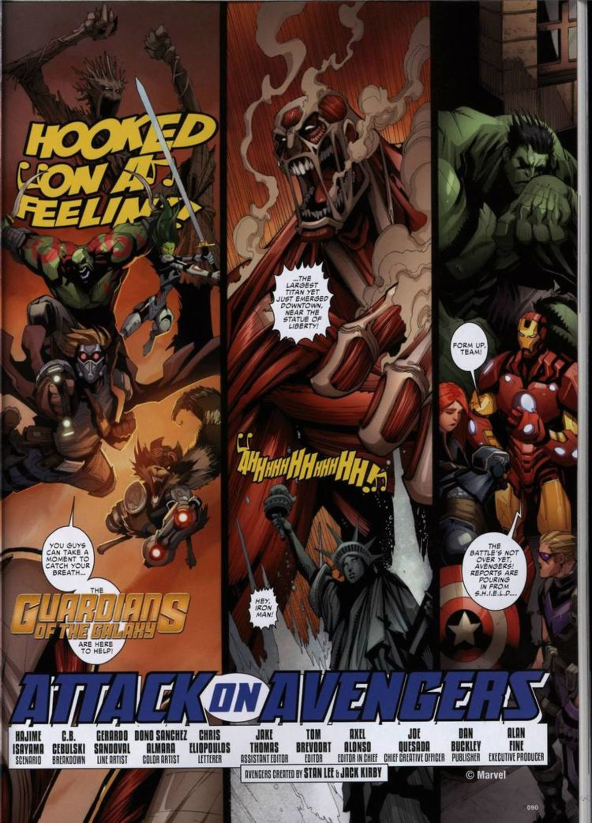 Read the entire 8-page Attack on Titan/Avengers crossover