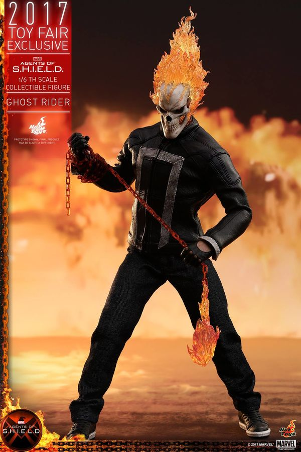 Hot Toys' smokin' new Agents of S H I E L D Ghost Rider figure