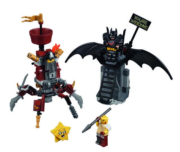 Battle-ready Batman and MetalBeard
