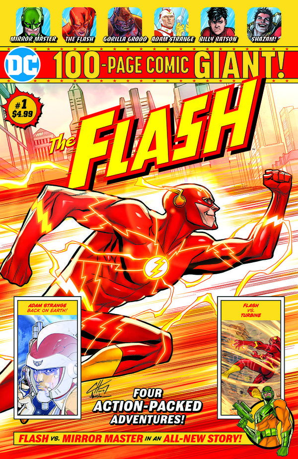 FLASH GIANT #2 PANOSIAN COVER DC COMICS 100 PAGE GIANT GREEN ARROW