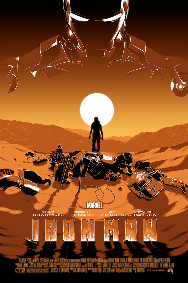 Iron Man  Mondo Gallery Presents MARVEL STUDIOS: The First Ten Years