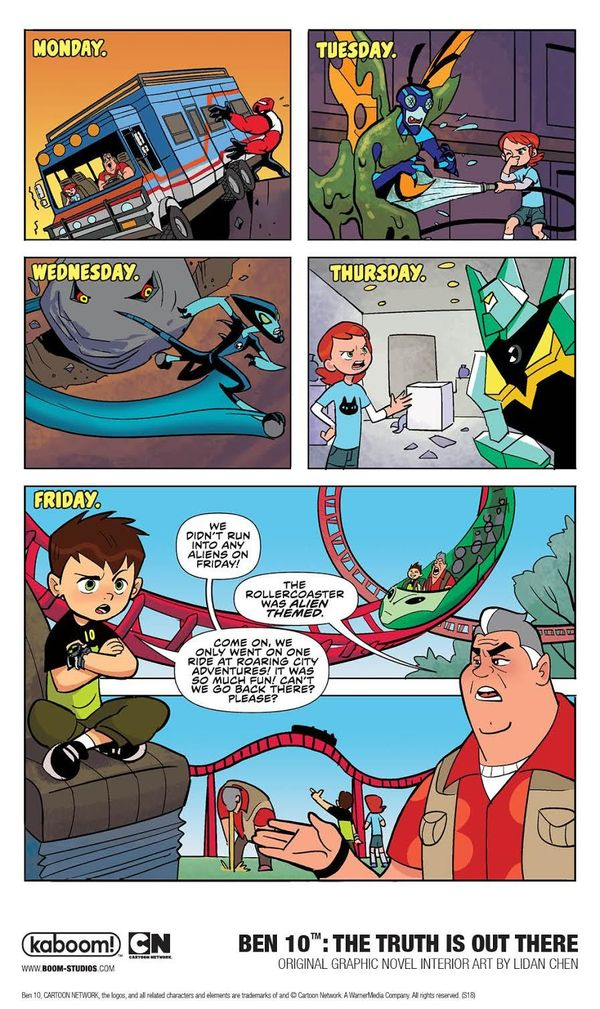 The Truth Is Out There in first look at Boom!'s upcoming Ben 10