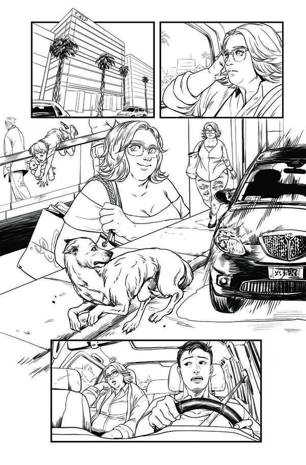 Faith: Dreamside #1 Page 3 BW