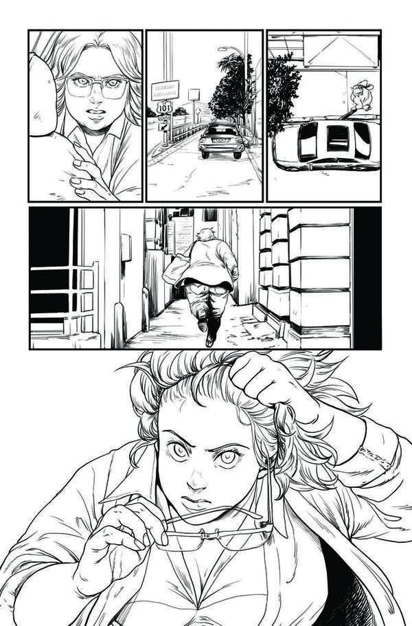 Faith: Dreamside #1 Page 4 BW