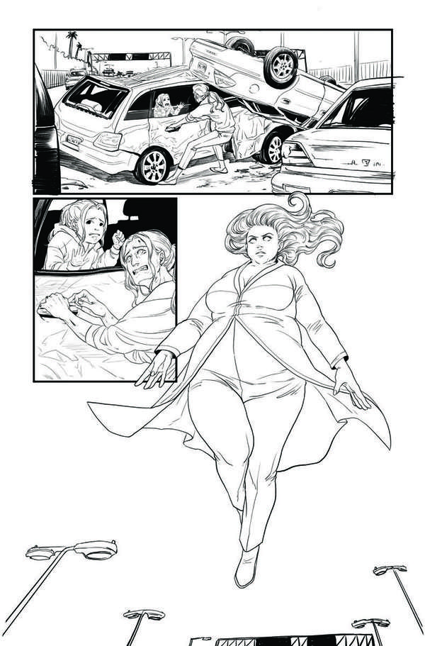 Faith: Dreamside #1 Page 5 BW