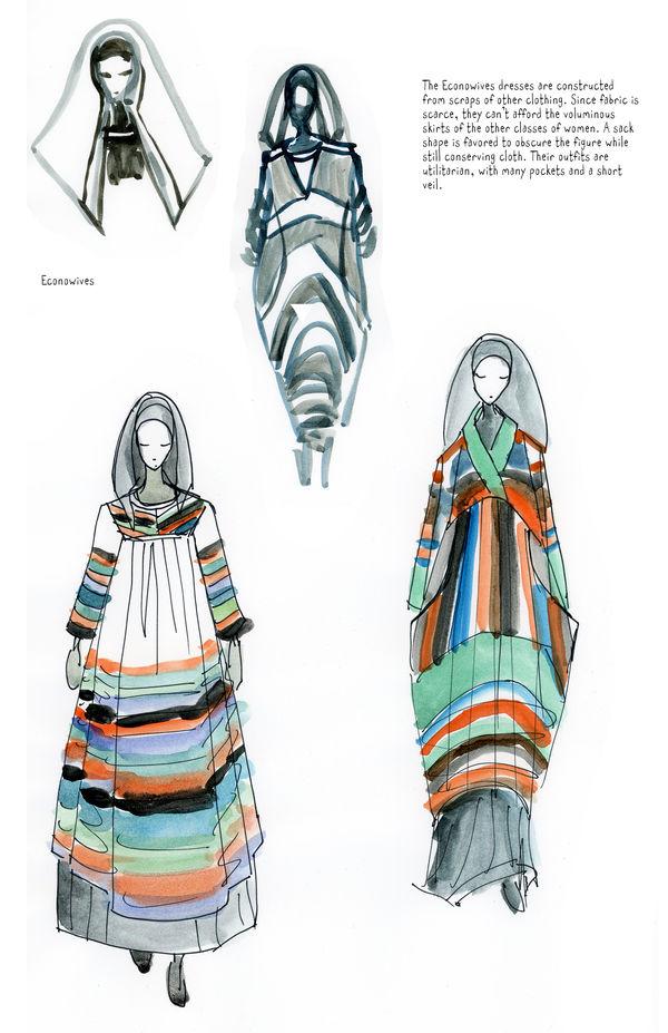 Handmaid's Tale, Concept art, Econowives costume