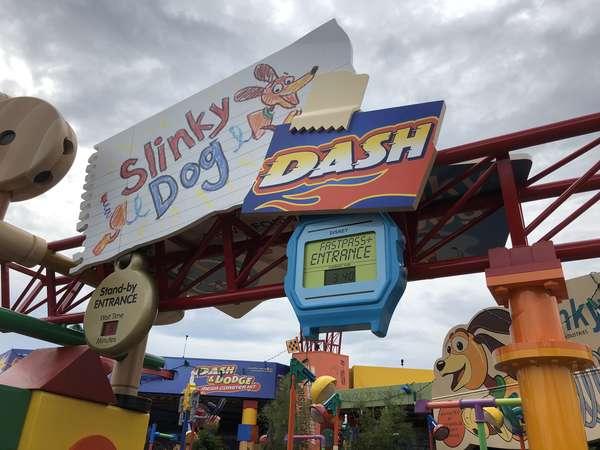 Toy Story Land Slinky Dog Dash opening