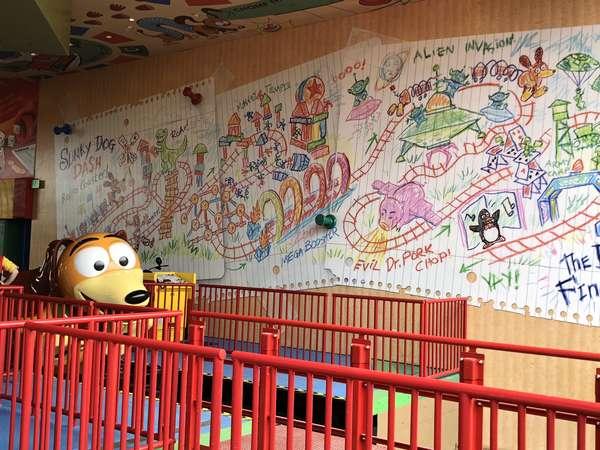 Toy Story Land Slinky Map