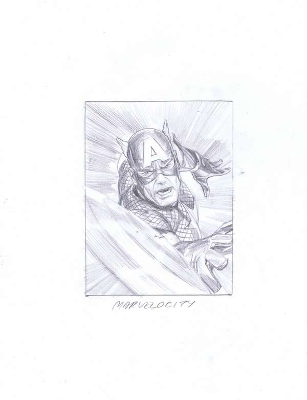 Marvelocity Cover - Thumbnail Sketch by Alex Ross