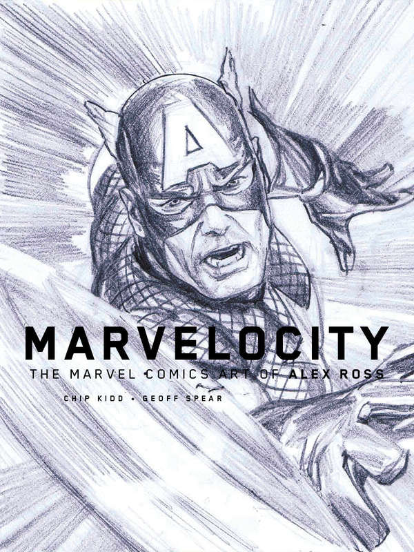 Marvelocity Cover - Pencils with Text by Alex Ross
