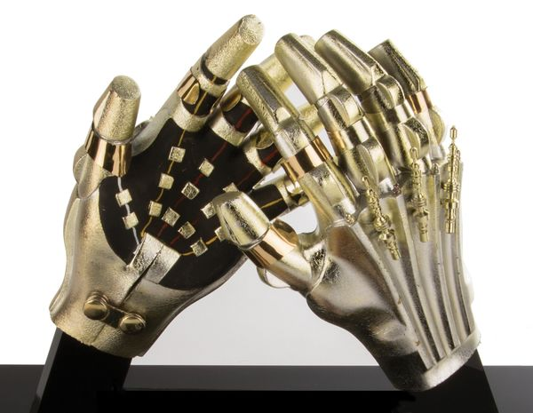 metal C-3PO hands from Return of the Jedi