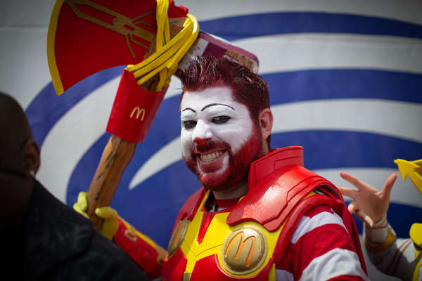 Ronald McDonald with the Power of Thor