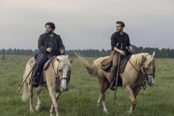 Dan Fogler as Luke, Callan McAuliffe as Alden- The Walking Dead