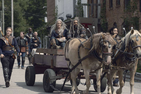Melissa McBride as Carol Peletier, Khary Payton as Ezekiel, Cooper Andrews as Jerry- The Walking Dead