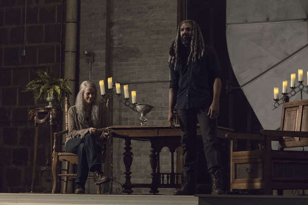 Khary Payton as Ezekiel, Melissa McBride as Carol Peletier- The Walking Dead