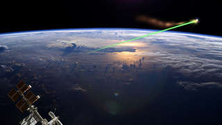 NASA image of space lasers