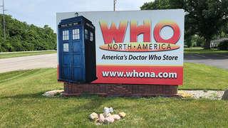 Geek Road Trip: Who North America sign