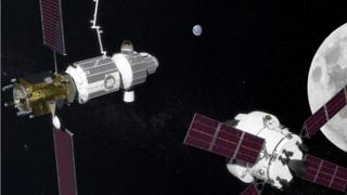 NASA image of the future Deep Space Gateway