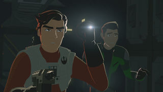 Star Wars Resistance Episode 7 Kaz and Poe