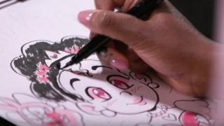 Shauna Grant sketching Princess Love Pon