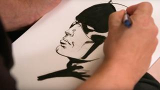 Joe Palmiotti drawing Daredevil