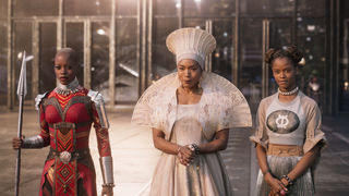 Black Panther Angela Bassett Letitia Wright