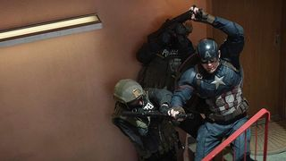 Captain America Civil War staircase fight