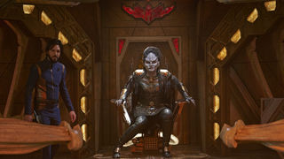 Star Trek: Discovery- L'Rell and Ash Tyler (Credit: Russ Martin/CBS)