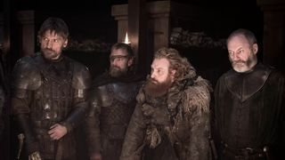 Game of Thrones Episode 8.2 Jaime Beric Tormund and Davos