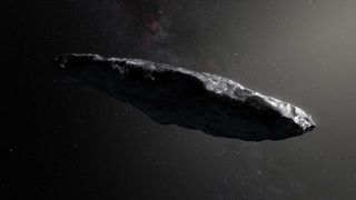Artwork depicting what 'Oumuamua might look like; observations indicate it's highly elongated. But where did it come from? Credit: ESO / M. Kornmesser