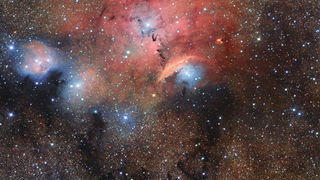 The star-forming region Sharpless 2-29, a sprawling nebula toward the galactic center. Credit: ESO/M. Kornmesser