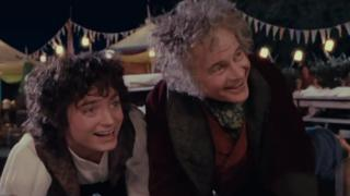 Frodo and Bilbo Baggins The Fellowship of the Ring
