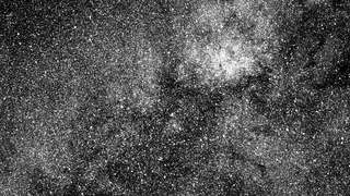 A chunk of sky near Beta Centauri (the bright star near the bottom) seen by the TESS spacecraft in its very first image. Credit: NASA / MIT / TESS