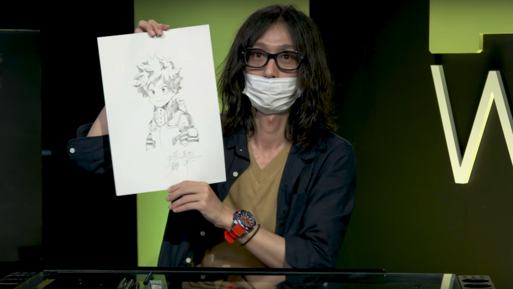 Artists Alley Kohei Horikoshi Sketches My Hero Academia S Deku
