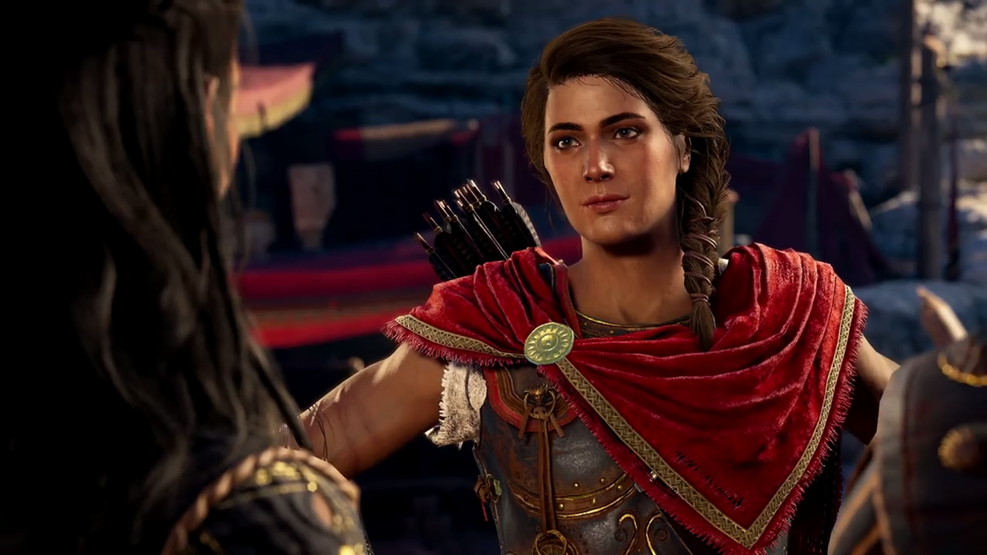 assassins creed odyssey kassandra wallpaper 1920x1080