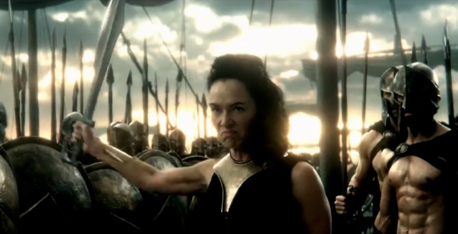 exclusive lena headey on the 300 sequel wielding a sword