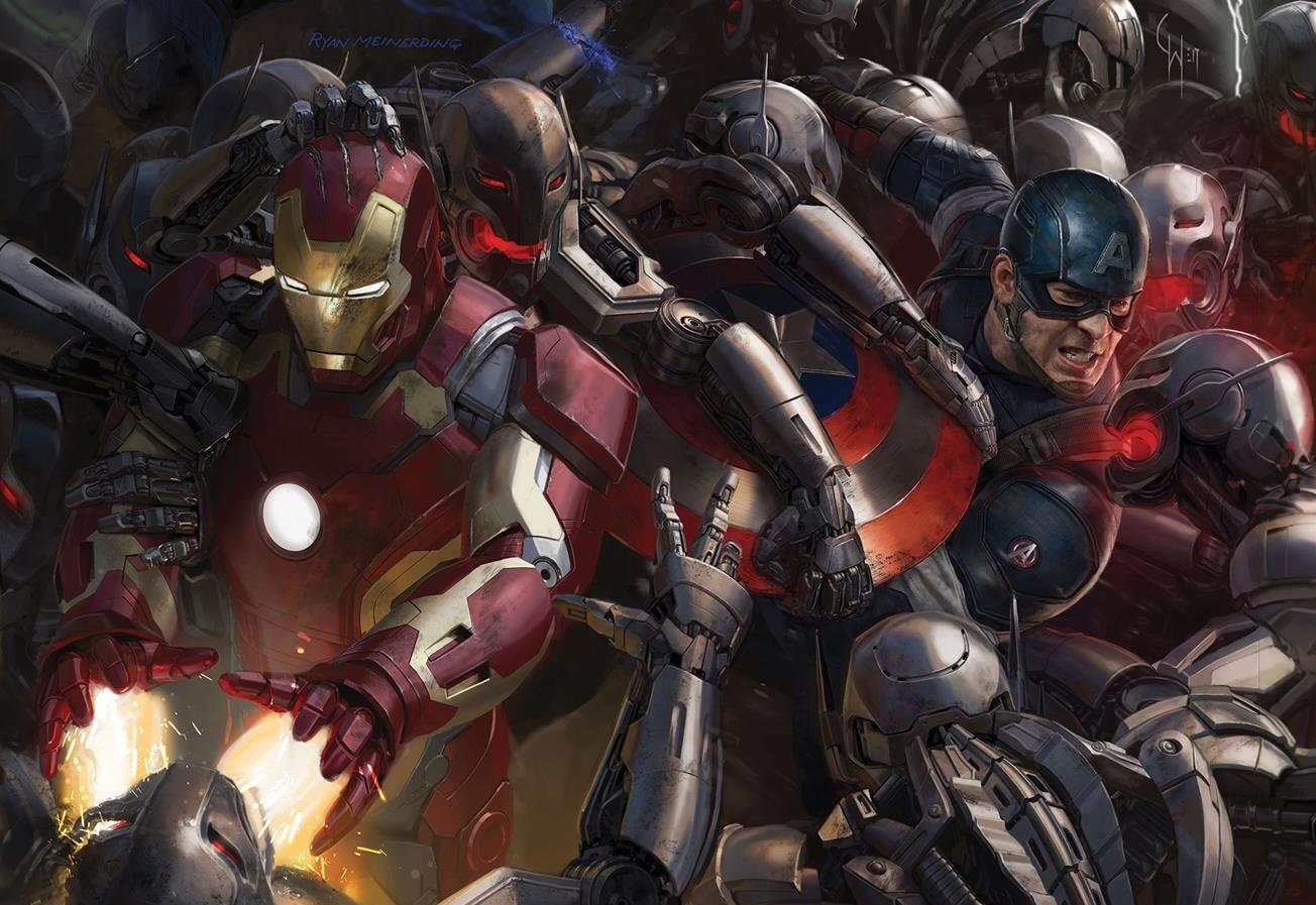 Vision! Quicksilver! The Avengers finally assemble in first full Age of Ultron poster