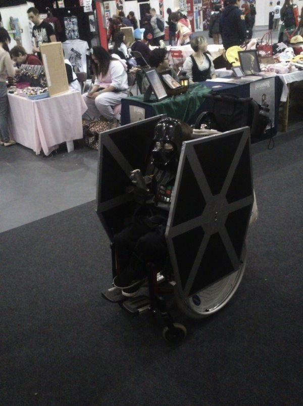 Cosplay We Love Darth Vader Kid Turns His Wheelchair Into