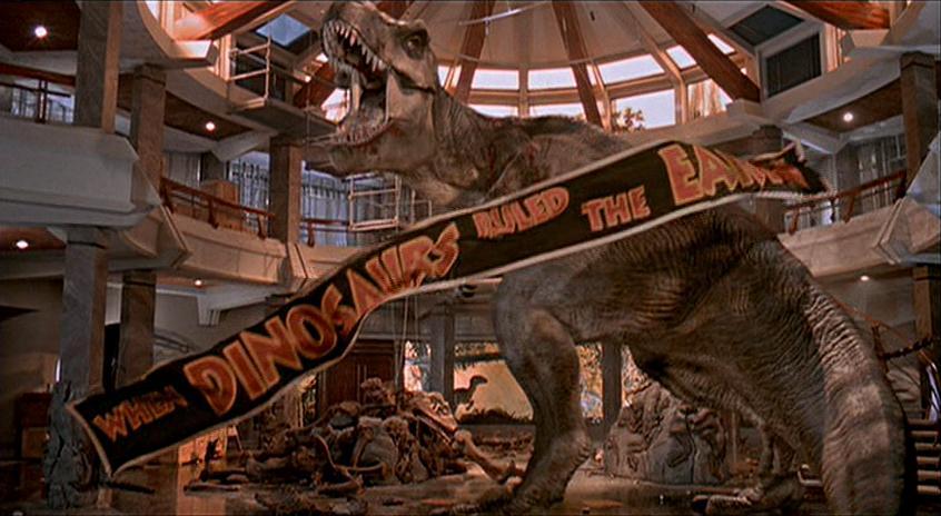Jurassic Park T Rex Roar Jurassic Park s T-Rex roars