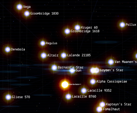 Closest Stars To Earth Map.Bad Astronomy Fly Through Space With 100 000 Stars Syfy Wire