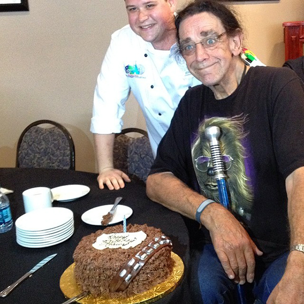 Image Of The Day Peter Mayhews Own Chewbacca Birthday Cake Syfy Wire