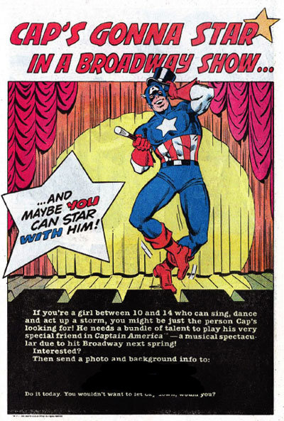 The Captain America musical that never was (and why we're glad)