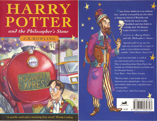 The First Harry Potter Book Cover : First edition harry potter book sells for  blastr