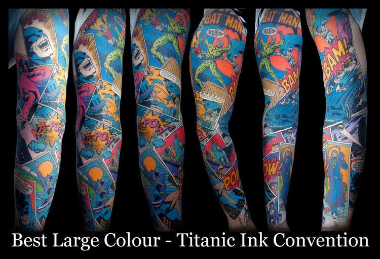 Japanese Batman Tattoo Batman Comic Sleeve Tattoo