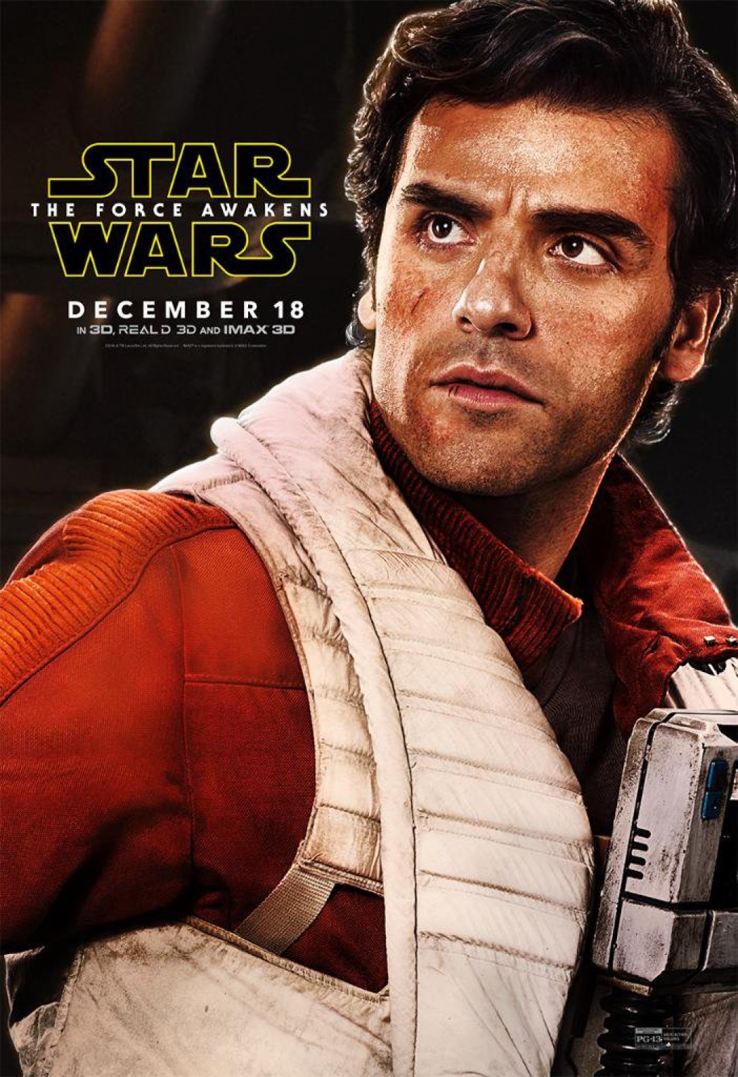 poe dameron finally gets his own star wars the force awakens poster