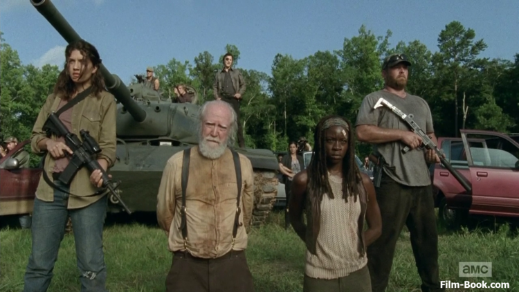 The Walking Dead with Hershel and Michonne